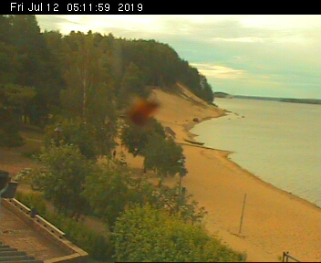 Sotkamo webcam - Hiukka beach webcam, Northern Ostrobothnia, Oulu